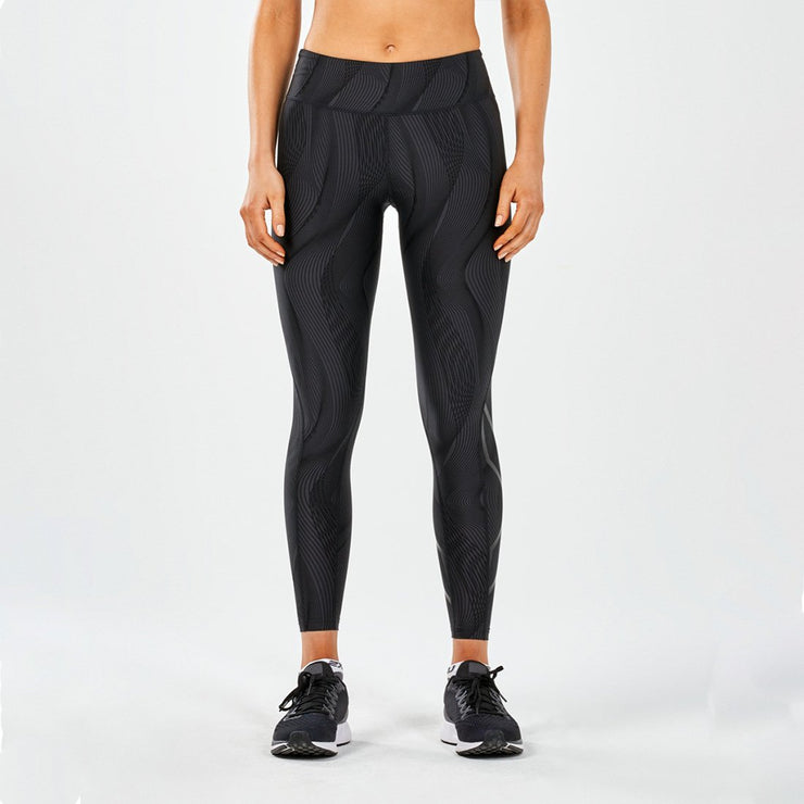 Mid-Rise Print Compression Tights