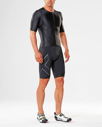 Men's Compression Full Zip Sleeve Trisuit : MT4442D