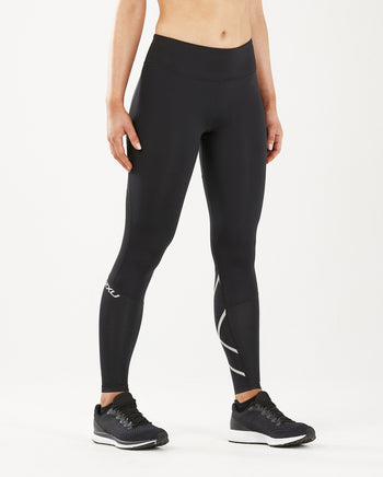 2XU Women's Run Mid-Rise Compression Tights : WA5312B