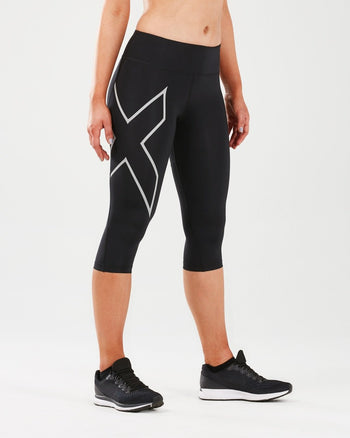 2XU Women's Run Mid-Rise Compression 3/4 Tights : WA5313B