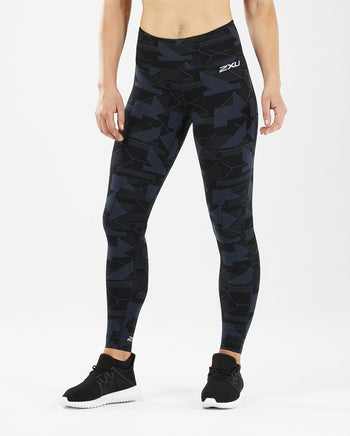 2XU Women's Print Fitness Mid-Rise Compression Tights : WA5387B