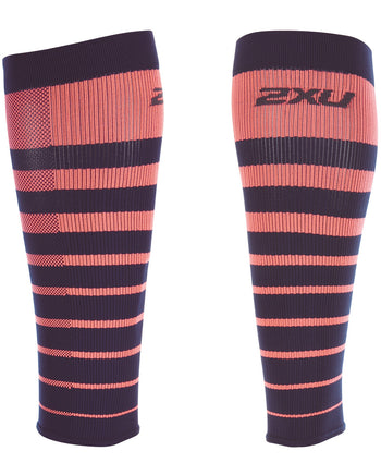 STRIPED RUN COMPRESSION CALF SLEEVES