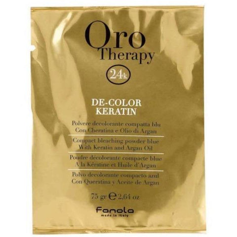 Fanola Oro Therapy Compact Bleaching Powder Blue 75g-Ethan Thomas Collection