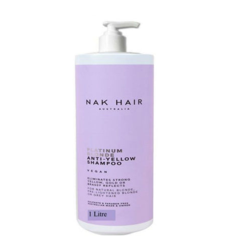NAK Platinum Blonde Shampoo 1000ml - Ethan Thomas Collection