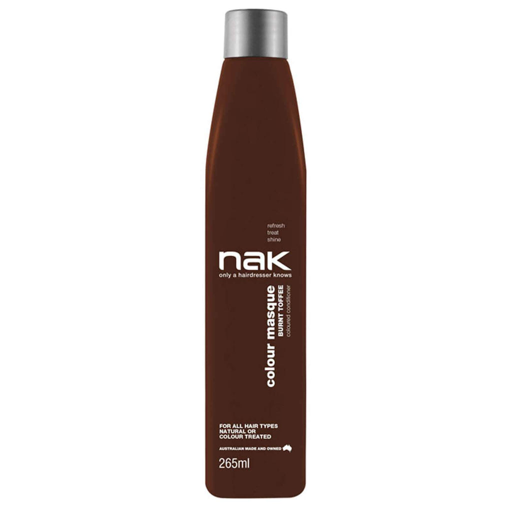 Nak Colour Masque Coloured Conditioner - Burnt Toffee 265ml - Ethan Thomas Collection