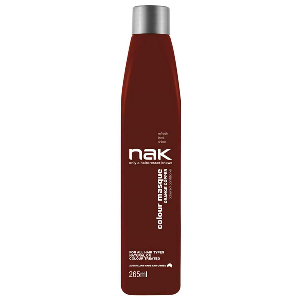 Nak Colour Masque Coloured Conditioner - Orange Copper 265ml - Ethan Thomas Collection