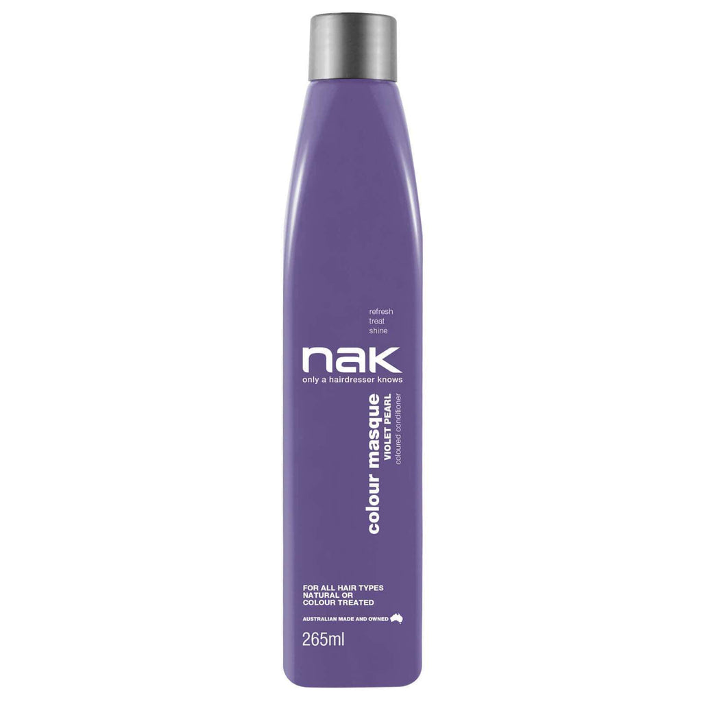 Nak Colour Masque Coloured Conditioner - Violet Pearl 265ml - Ethan Thomas Collection