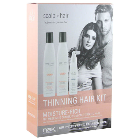 Nak Scalp To Hair Moisture-Rich Thinning Hair Kit-Ethan Thomas Collection