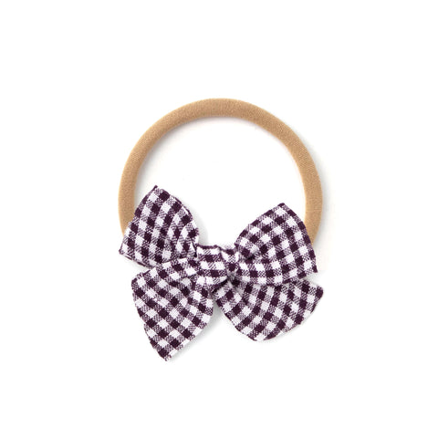 Mini Pinwheel // Deep Plum Gingham