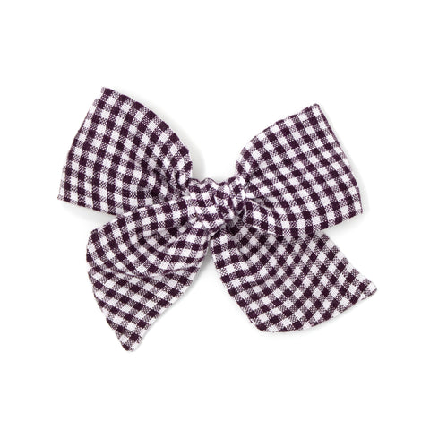Oversized Pinwheel // Deep Plum Gingham