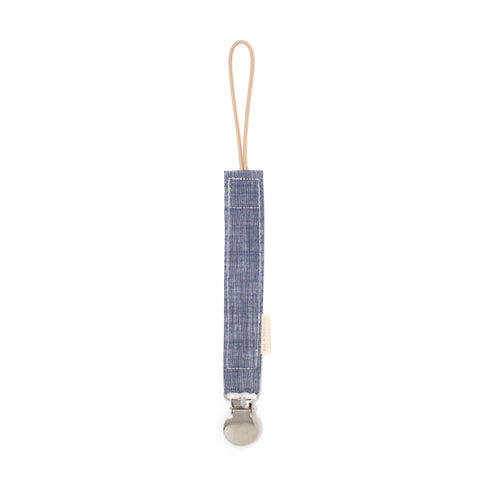 Pacifier Clip // Light Chambray