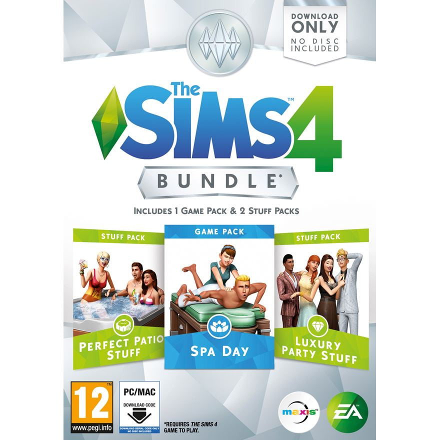 The Sims 4 DLC Bundle Pack 1 Spa Day/Luxury Party/Perfect Patio PC Game Download Origin Key Global