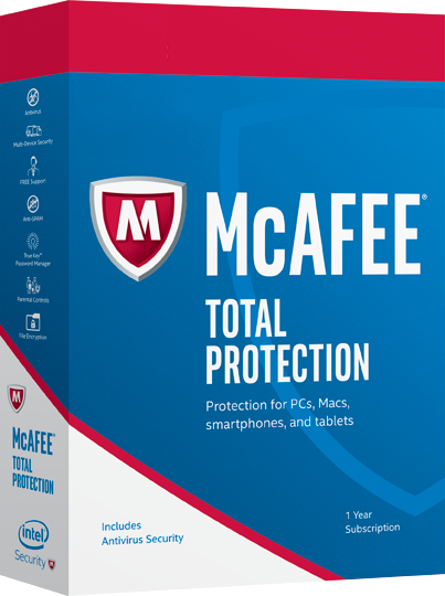 McAfee Total Protection 2017 1 Year 1 PC Key Global License Product Key - Digital Download