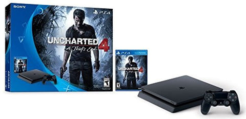 PlayStation 4 Slim 500GB Game Console - Uncharted 4 Bundle (Physical Disc)