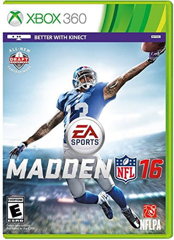 Madden NFL 16 For Xbox 360 (Physical Disc)