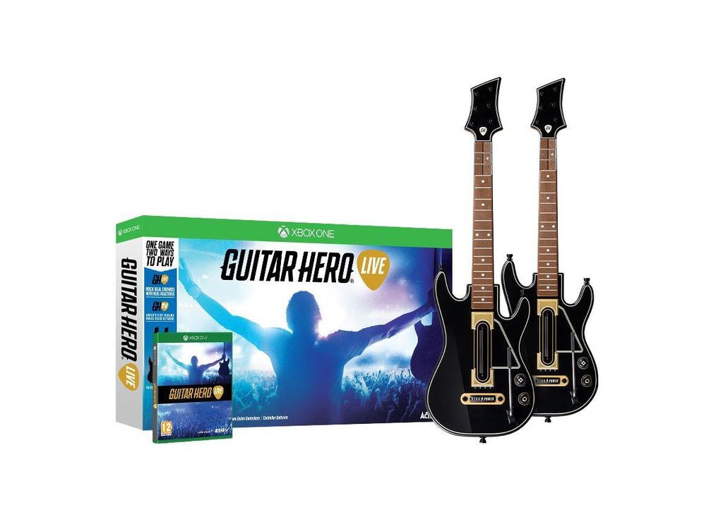 Guitar Hero Live 2-Pack Wireless Guitar Bundle For Xbox One (Physical Disc)