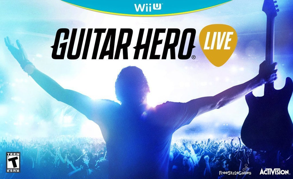 Guitar Hero Live Wireless Guitar Bundle For Wii U (Physical Disc)
