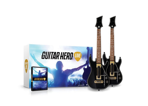 Guitar Hero Live 2-Pack Wireless Guitar Bundle For Wii U (Physical Disc)