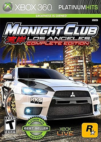 Midnight Club: Los Angeles Platinum Hits For Xbox 360 (Physical Disc)
