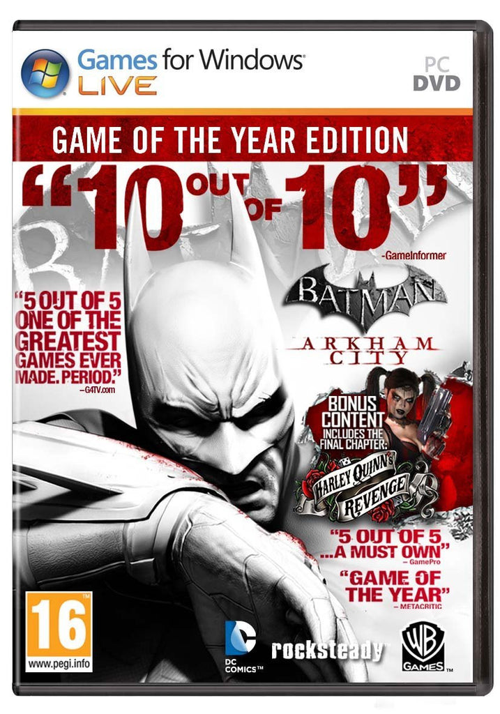 Batman: Arkham City Game of the Year Edition Windows PC Game Download Steam CD-Key Global