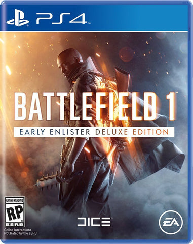 Battlefield 1 Early Enlister Deluxe Edition For PlayStation 4 (Physical Disc)