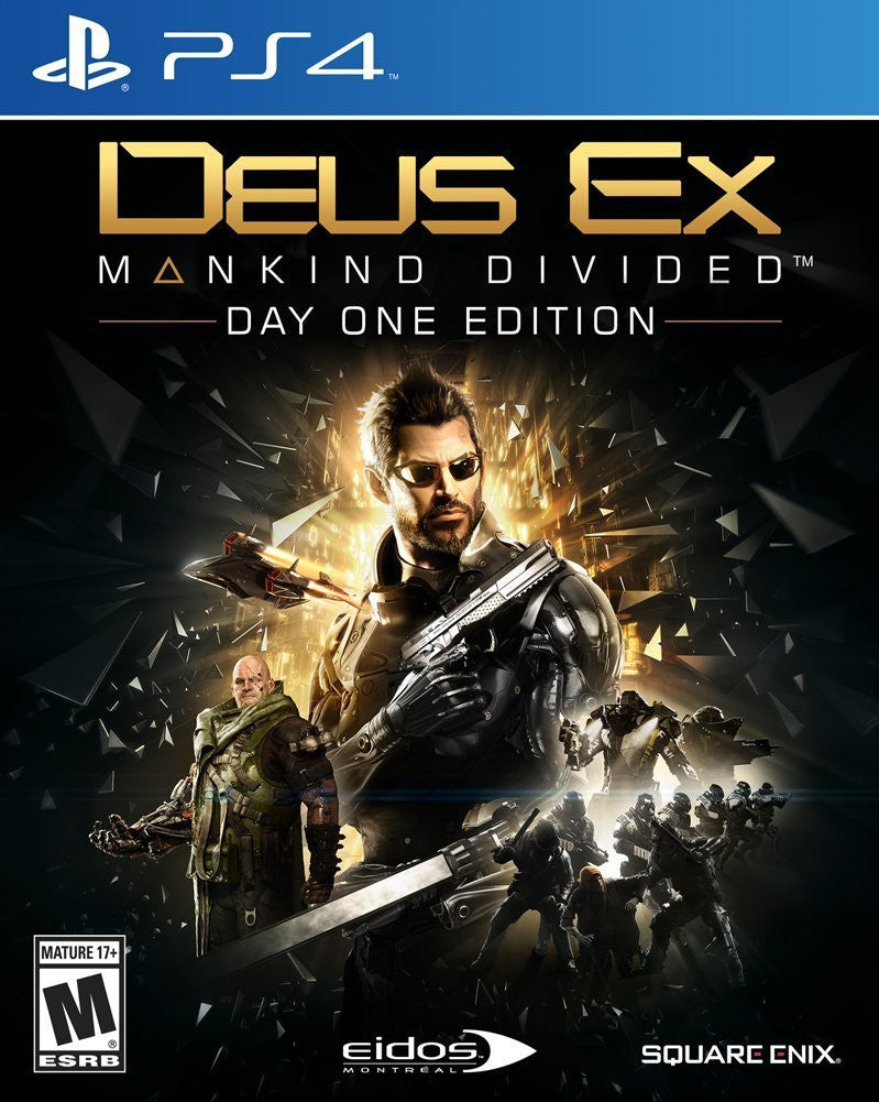 Deus Ex: Mankind Divided Day One Edition For PlayStation 4 (Physical Disc)