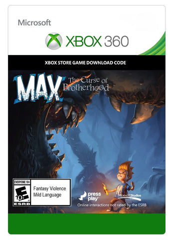 Max: The Curse of Brotherhood Xbox 360 Digital Game Download Xbox Live CD-Key Global