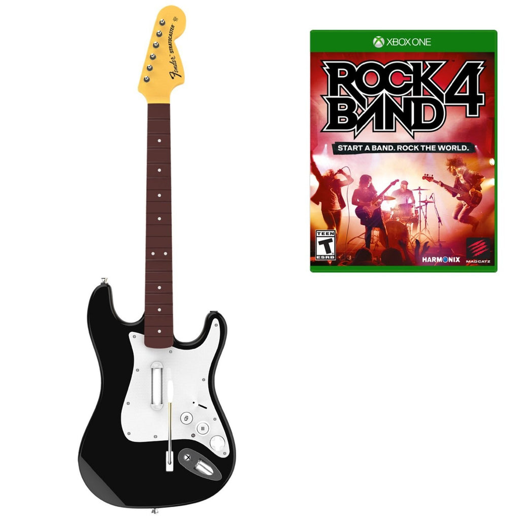 Rock Band 4 Wireless Guitar Bundle For Xbox One (Physical Disc)