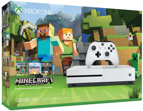 Xbox One S 500GB Game Console - Minecraft Bundle
