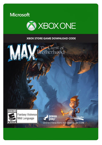 Max: The Curse of Brotherhood Xbox One Digital Game Download Xbox Live CD-Key Global