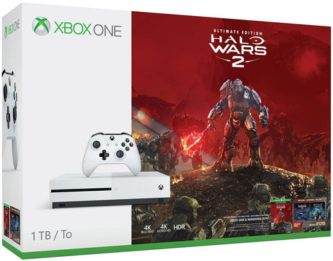 Xbox One S 1TB Game Console - Halo Wars 2 Bundle