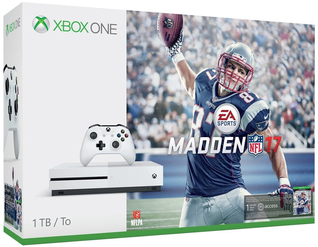 Xbox One S 1TB Game Console - Madden NFL 17 Bundle