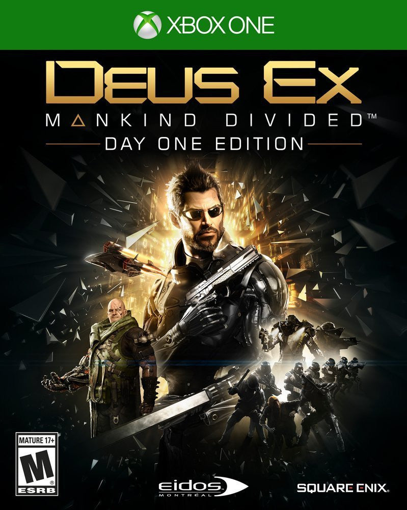 Deus Ex: Mankind Divided Day One Edition For Xbox One (Physical Disc)