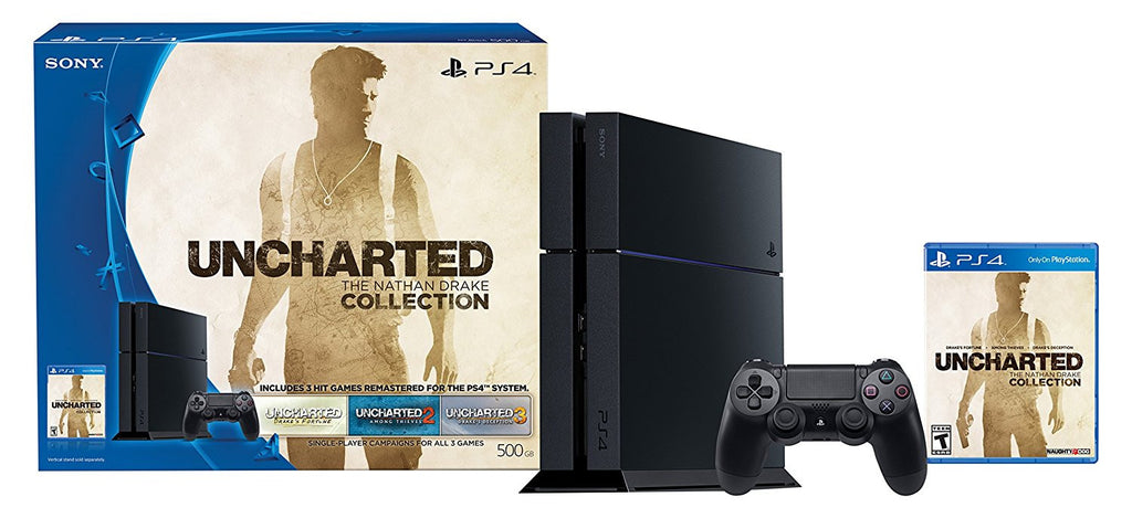 PlayStation 4 500GB Game Console - Uncharted: The Nathan Drake Collection Bundle (Physical Disc)