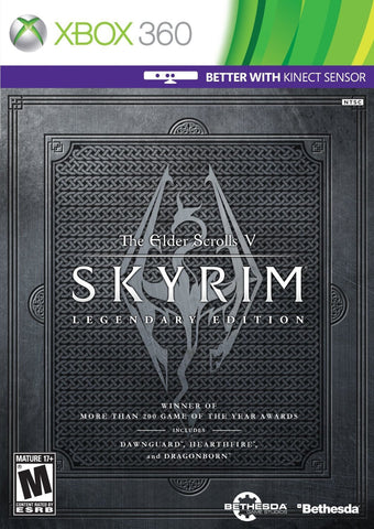 The Elder Scrolls V: Skyrim - Legendary Edition For Xbox 360 (Physical Disc)