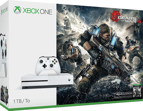 Xbox One S 1TB Game Console - Gears of War 4 Bundle