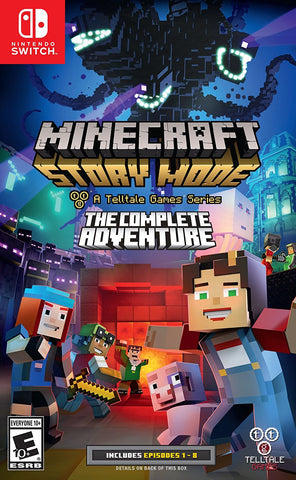 Minecraft: Story Mode - The Complete Adventure Pre-Order For Switch (Physical Cartridge)