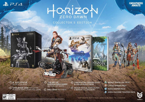 Horizon: Zero Dawn Collector's Edition For PlayStation 4 (Physical Disc)