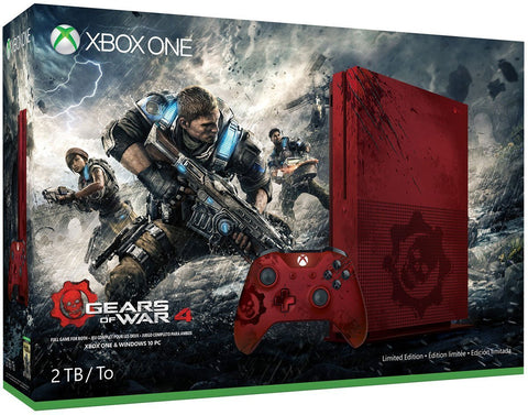 Xbox One S 2TB Game Console - Gears of War 4 Limited Edition Bundle