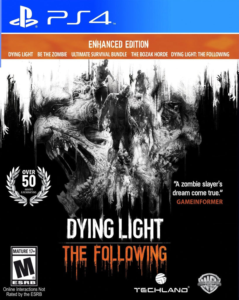 Dying Light: The Following - Enhanced Edition For PlayStation 4 (Physical Disc)