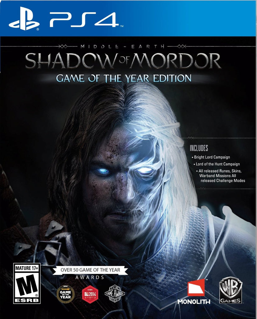 Middle Earth: Shadow of Mordor Game of the Year Edition For PlayStation 4 (Physical Disc)