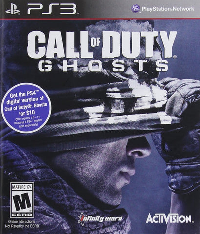 Call of Duty: Ghosts For PlayStation 3 (Physical Disc)