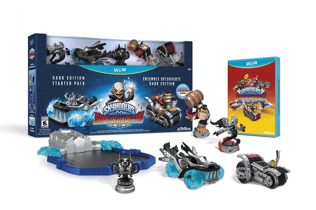 Skylanders SuperChargers Dark Edition Starter Pack For Wii U (Physical Disc)
