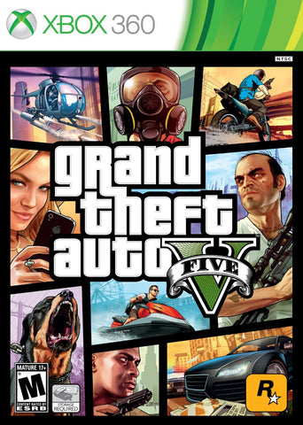 Grand Theft Auto V For Xbox 360 (Physical Disc)