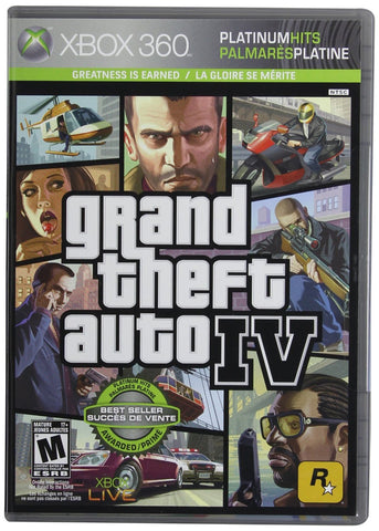 Grand Theft Auto IV For Xbox 360 (Physical Disc)