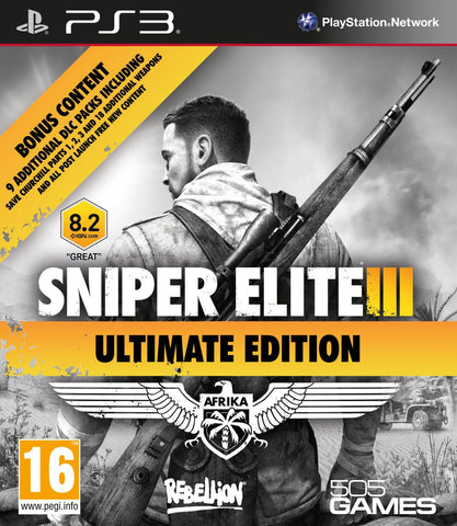Sniper Elite III Ultimate Edition For PlayStation 3 (Physical Disc)