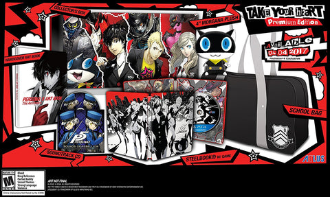 "Persona 5 ""Take Your Heart"" Premium Edition Pre-Order For PlayStation 4 (Physical Disc)"