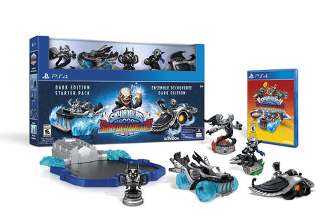 Skylanders SuperChargers Dark Edition Starter Pack For PlayStation 4 (Physical Disc)