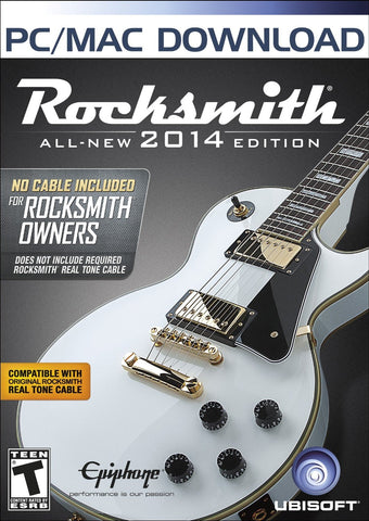 Rocksmith 2014 Windows PC/Mac Game Download Steam CD-Key Global