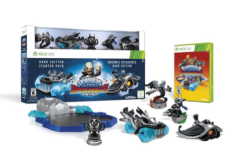 Skylanders SuperChargers Dark Edition Starter Pack For Xbox 360 (Physical Disc)